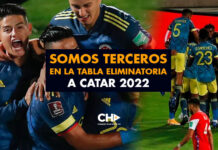 Somos TERCEROS en la tabla eliminatoria a Catar 2022